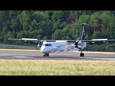 AUSTRIAN AIRLINES - Dash 8 Q400  - STAR ALLIANCE LIVERY | Operating for SWISS | Luxembourg Airport