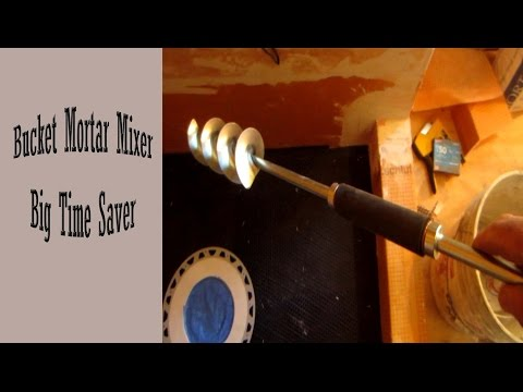 Time saver Bucket Mortar mixer