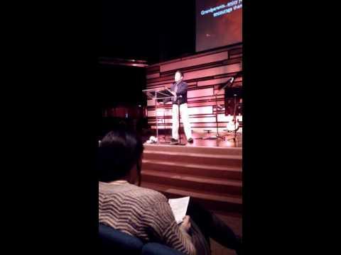 Scott Shaw preaching his 1st sermon on Proverbs