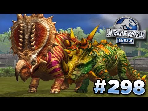 Ceratopsian Cousins MAXED!!! || Jurassic World - The Game - Ep298 HD