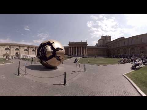 360 video: Gardens of Musei Vaticani, Rome, Italy