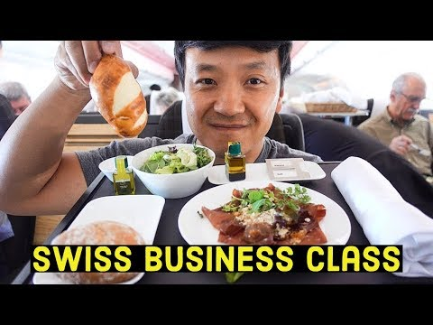 Flying SWISS Airlines BUSINESS CLASS Rome to New York