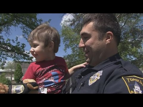 Hero Cop Hugs Boy With Autism Who He Saved After Falling Into Pond