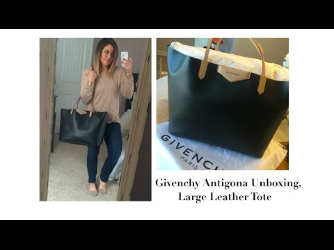 New Bag!! Givenchy Antigona Unboxing  Large Leather Tote - YouTube 14cee3af11