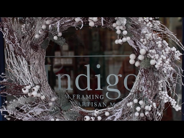 Santa is Coming - Indigo Custom Framing & Artisan Market | Downtown Anderson