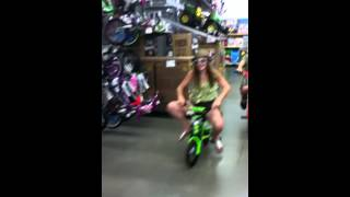 Riding on bikes in Walmart! (Fun times in Walmart)