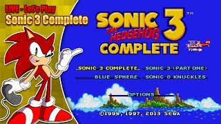 Sonic 3 Complete LIVE Stream - Saturday 2nd June 8pm BST thumbnail