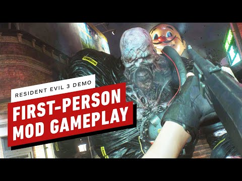 Resident Evil 3 Demo - First Person Mod Gameplay