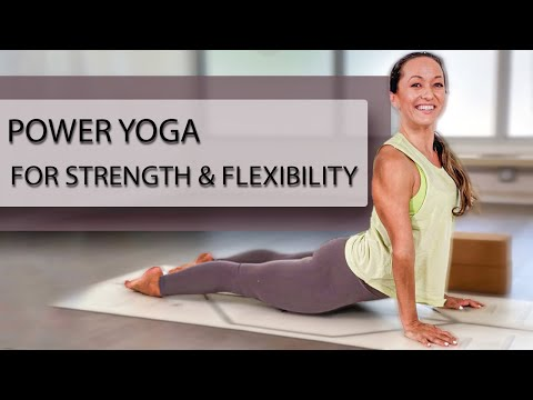 Power Yoga for Strength and Flexibility — One Hour Practice — Work Hard, Feel Good, Happy Flow