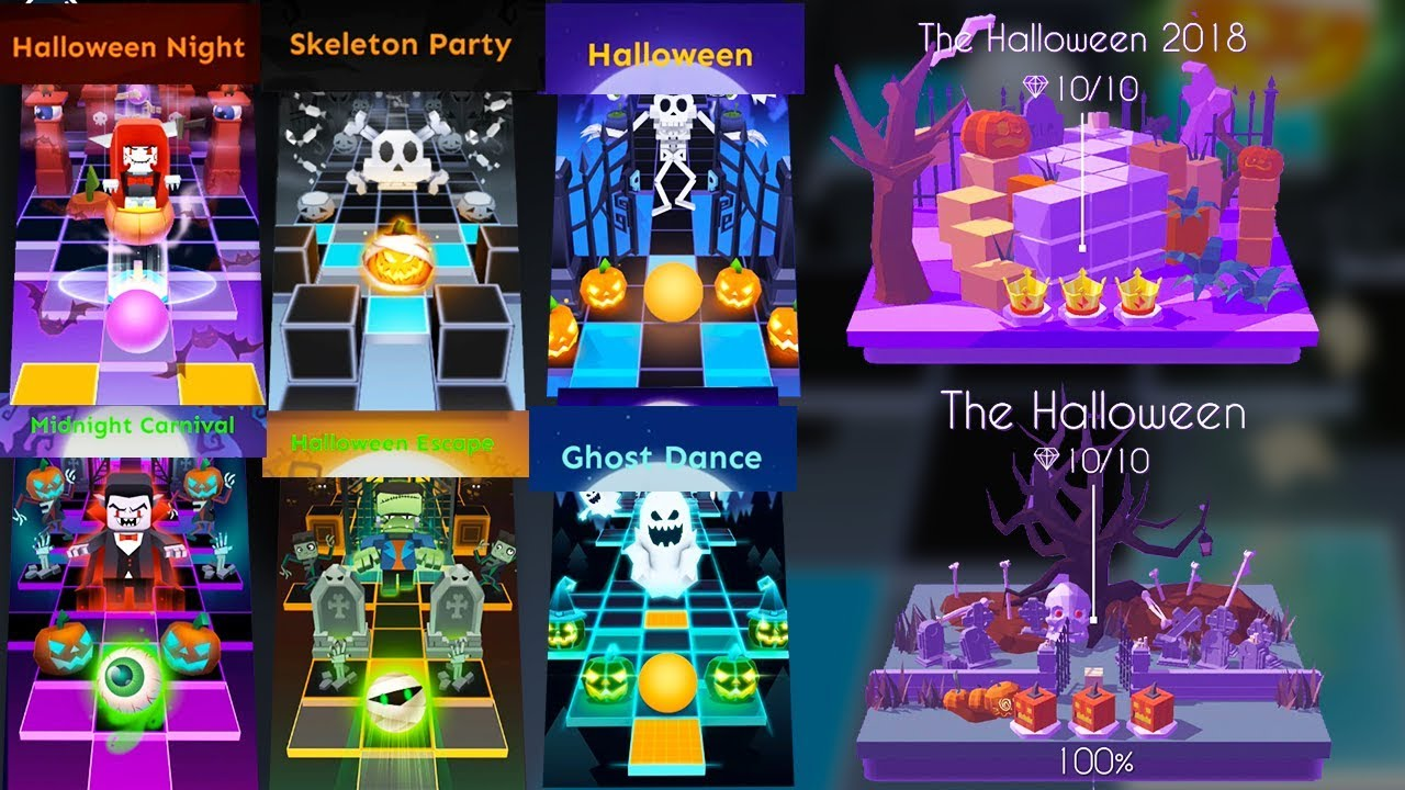 Rolling Sky Halloween Night.Rolling Sky Dancing Line All Halloween Levels Halloweennight Puzzle Skeletonparty Etc Shavibe
