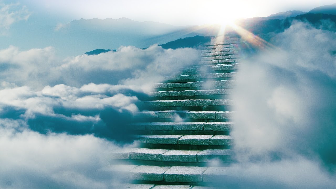 Анимация картинки лестница в небо, февраля