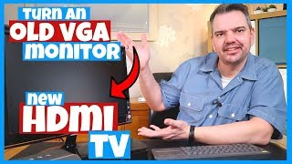 Turn an Old VGA Computer Monitor into a New Hdmi TV (Ps4, Xbox one, Windows 10, Cable)