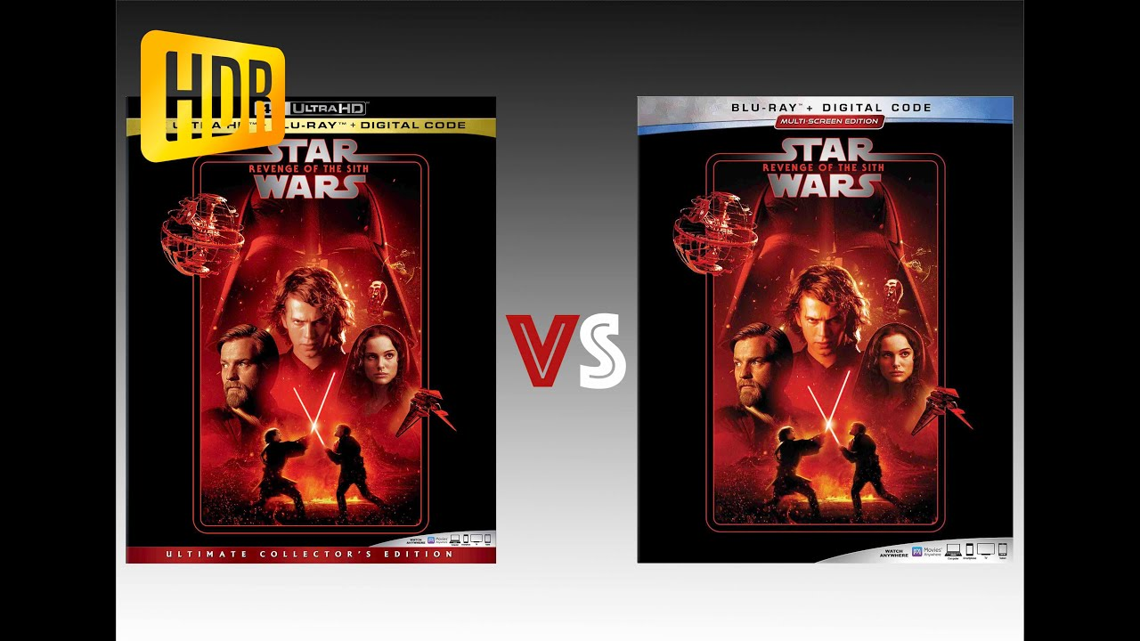 Download ▶ Comparison of Star Wars/ Episode III - Revenge of the Sith 4K (2K DI) HDR10 vs Regular Version