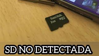 Mi celular no reconoce tarjeta SD (RESUELTO)