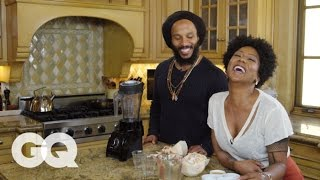 Video Ziggy Marley Cooks You Breakfast: Coco Love Juice | GQ download MP3, 3GP, MP4, WEBM, AVI, FLV November 2017