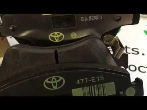 Тормозные колодки передние комплект Toyota Auris 150 Corolla 150 оригинал 0446502370 04465 02370