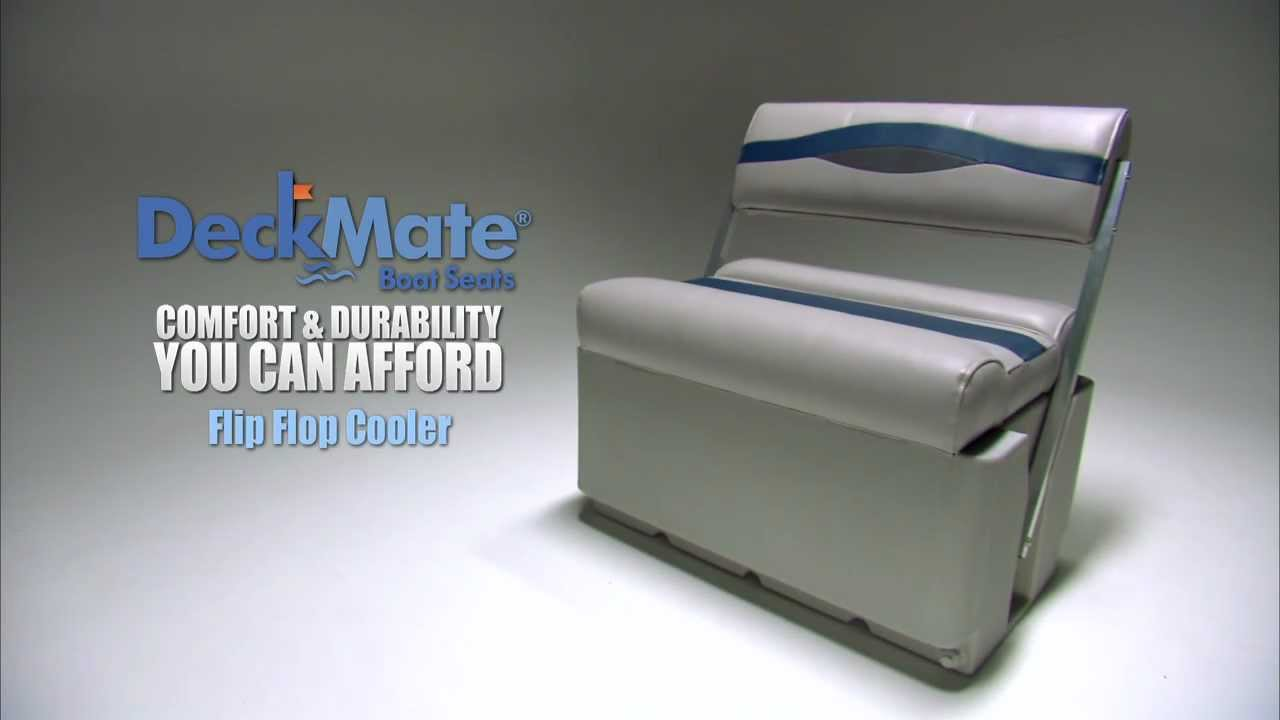 Deckmate Flip Flop Cooler Pontoon Boat Seats Youtube