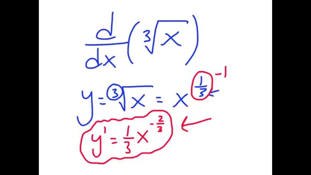 Calculus: The Derivative of Cube Root of X - YouTube
