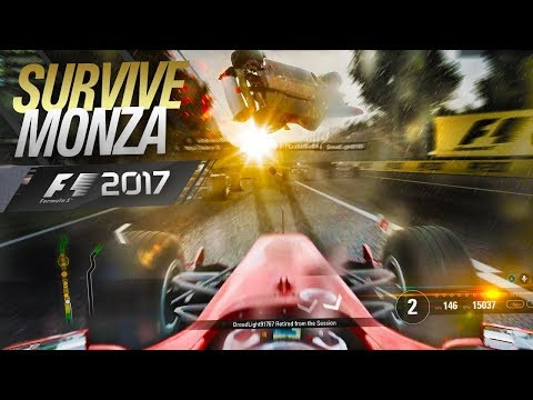 MASSIVE F1 2017 CRASH - Survive Monza