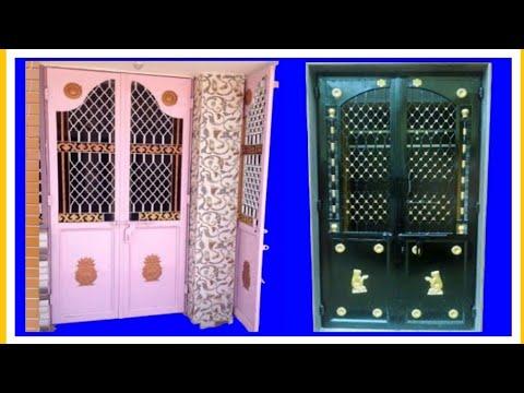 Iron door design for home - Iron grill door design photo - YouTube Grill Door Design In India on