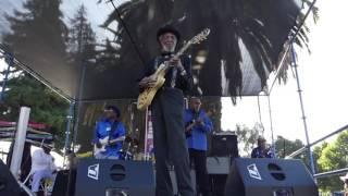 Alvin Draper sings at East Palo Alto Blues Festival 2016