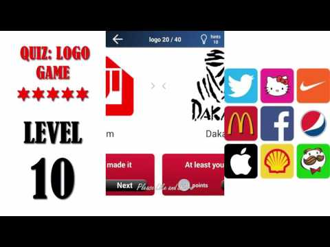 Quiz: Logo Game Level 10 - All Answers - Walkthrough ( By Lemmings At Work )