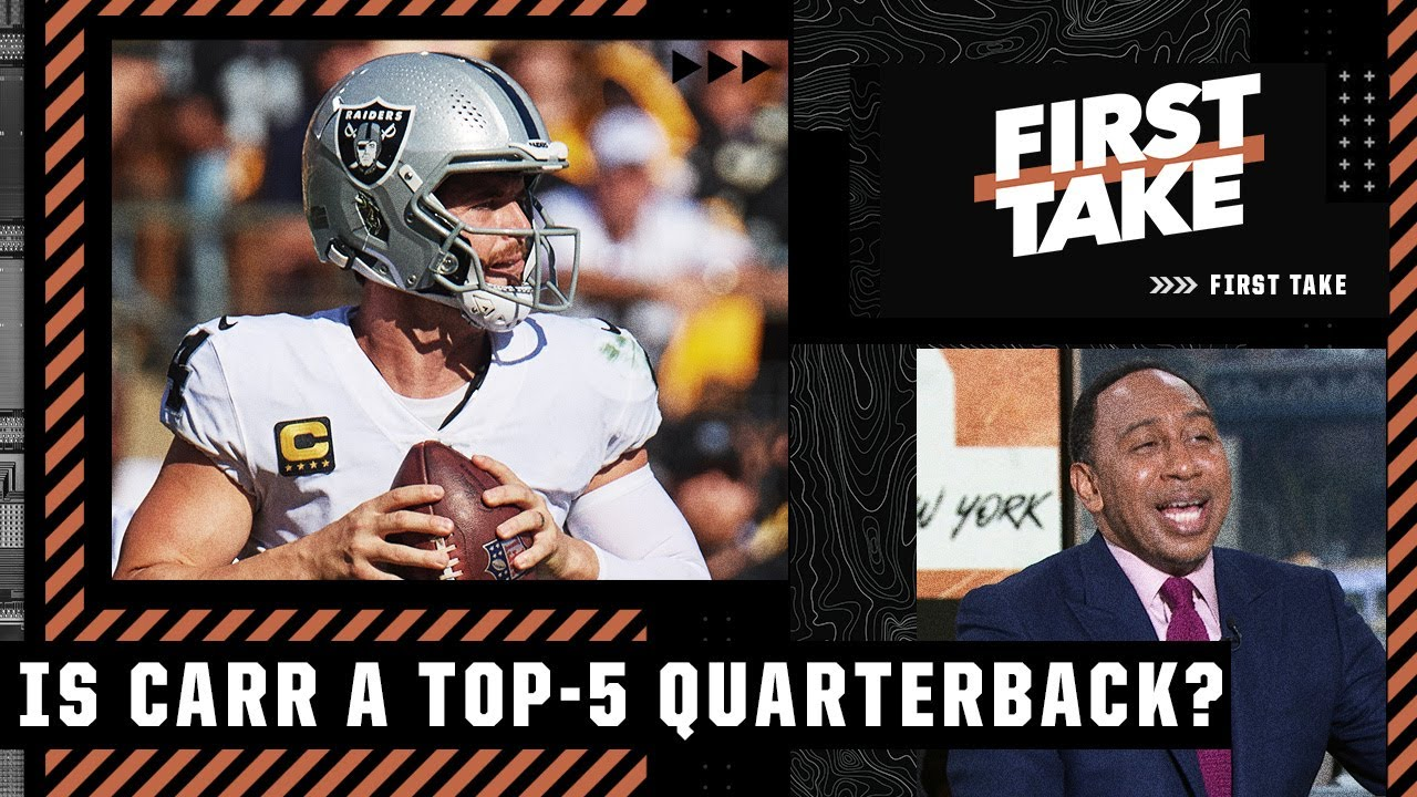 Download Stephen A. laughs at Keyshawn 😂 for calling Derek Carr a Top-5 QB | First Take
