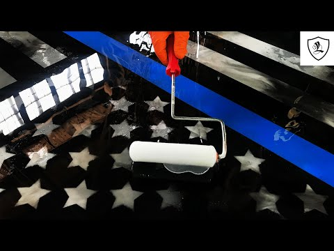 Tribute To A Fallen Officer | Epoxy Police Flag