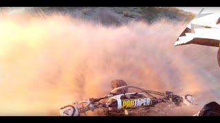 Riding through Deep Puddles | Dirt bike Mudding in Arizona