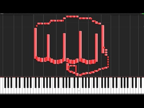 THE HERO!! - One Punch Man (Opening) [Piano Tutorial] (Synthesia) // TheIshter