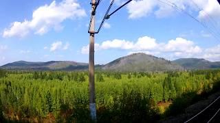 Вид из окна поезда - Природа Забайкальского края (близ г.Могоча)