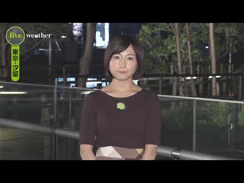 Weather Forecast in Japanese TV - Tokyo - 9th of September 2019