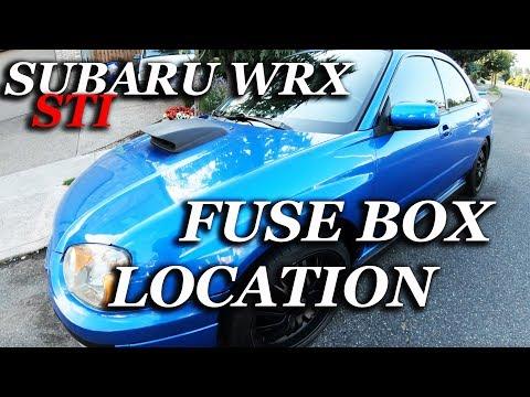 FUSE BOX LOCATION ON A 2004 - 2007 SUBARU WRX - YouTubeYouTube