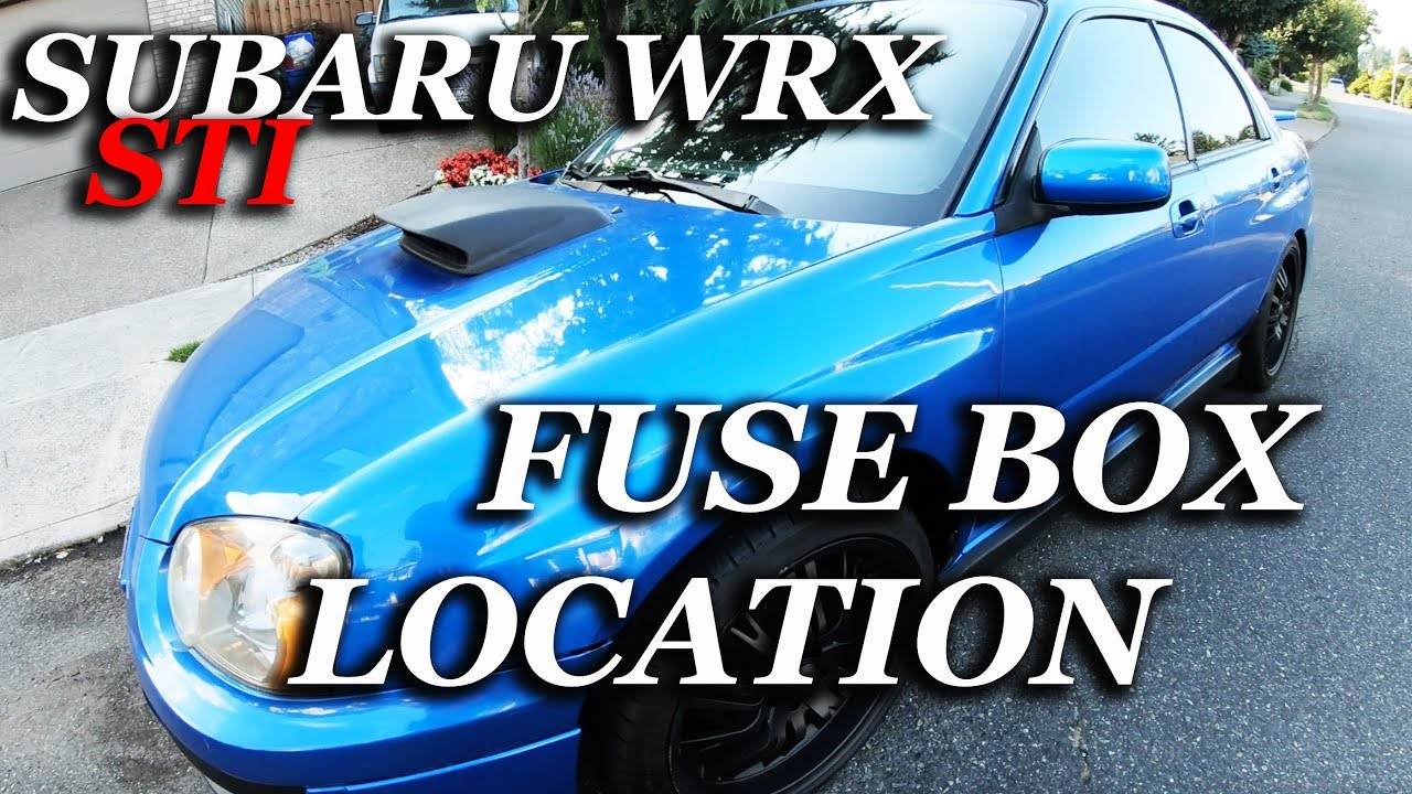 [DIAGRAM_34OR]  FUSE BOX LOCATION ON A 2004 - 2007 SUBARU WRX - YouTube | 2007 Subaru Wrx Fuse Box |  | YouTube