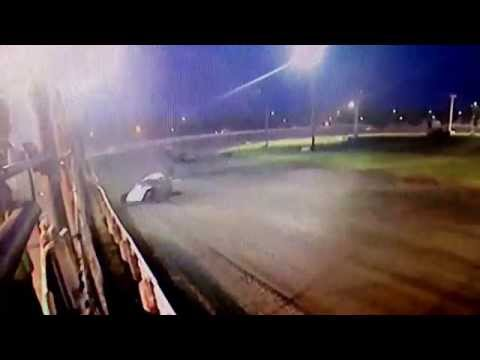 Angie Johnson rollover at Norman County Raceway