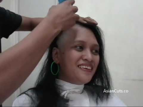 Vid 728 - Celeste Long To Undercut To Bald