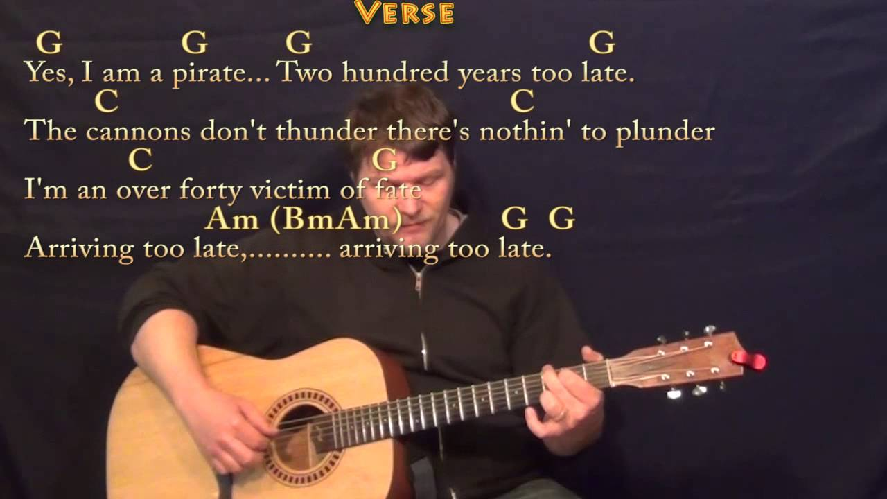 Pirate Looks At 40 Jimmy Buffett Fingerstyle Guitar Cover Lesson