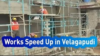 AP Temporary Secretariat Construction Works Speed Up in Velagapudi - Express TV