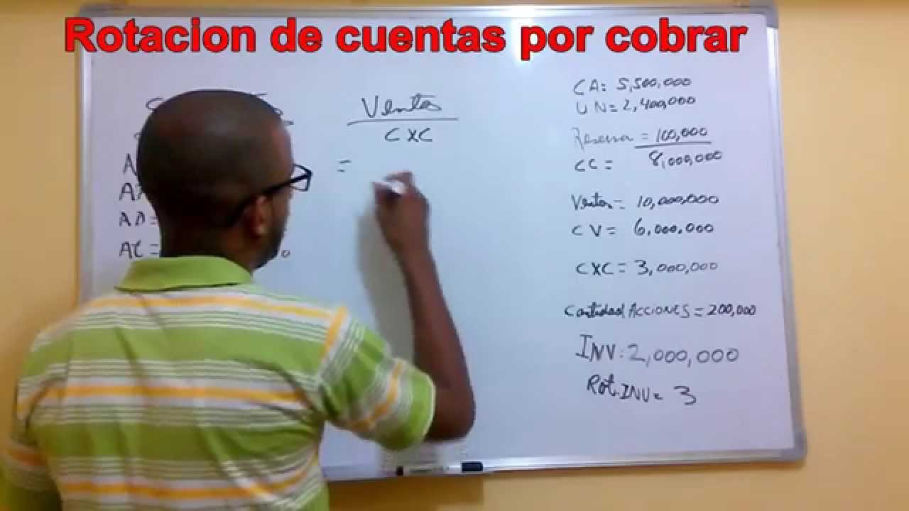 Razones financieras-rotacion de cuentas por cobrar - YouTube