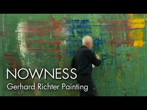 Gerhard Richter Painting The Master Artist At Work