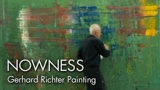 Gerhard Richter Painting: watch the master artist at work