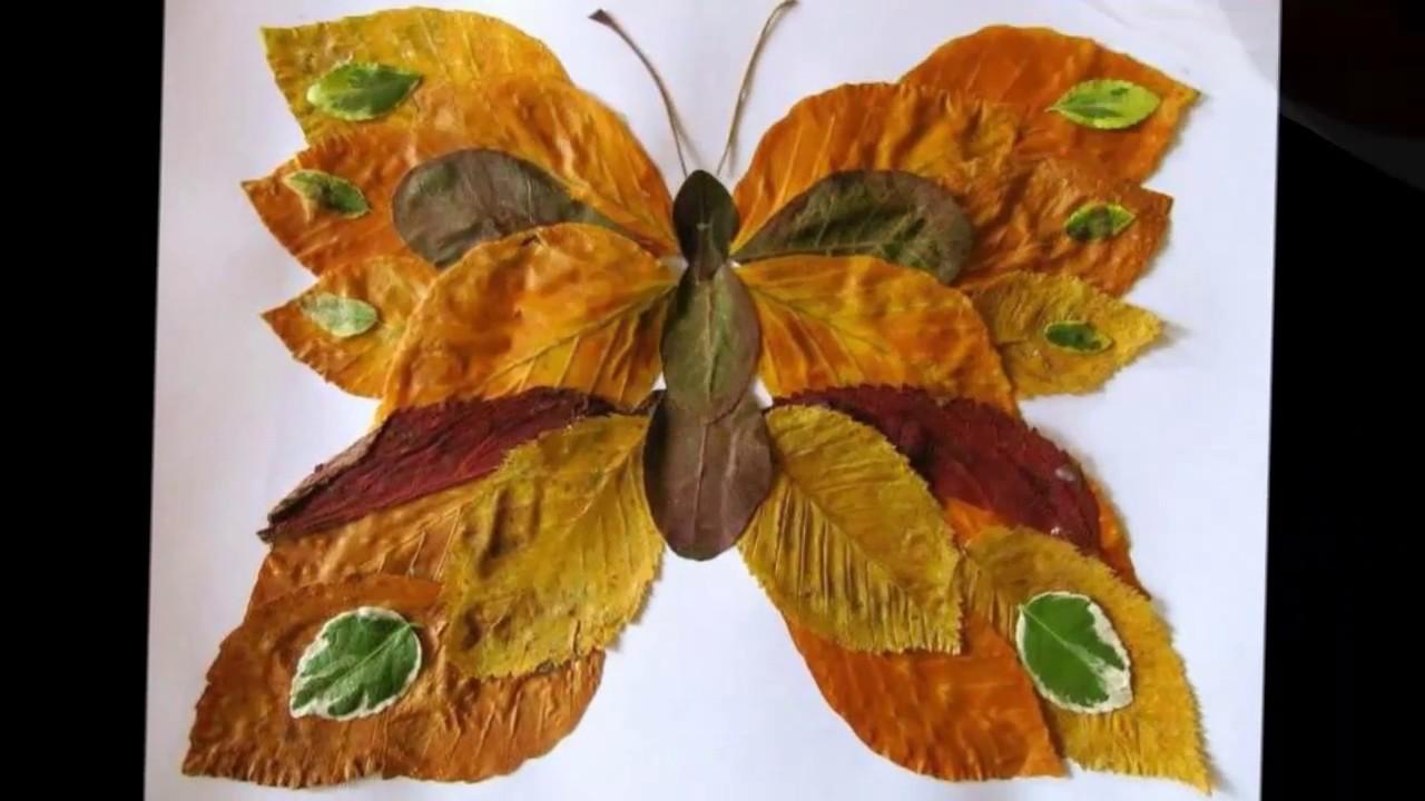 Поделки золотая осень своими руками из природного фото 129