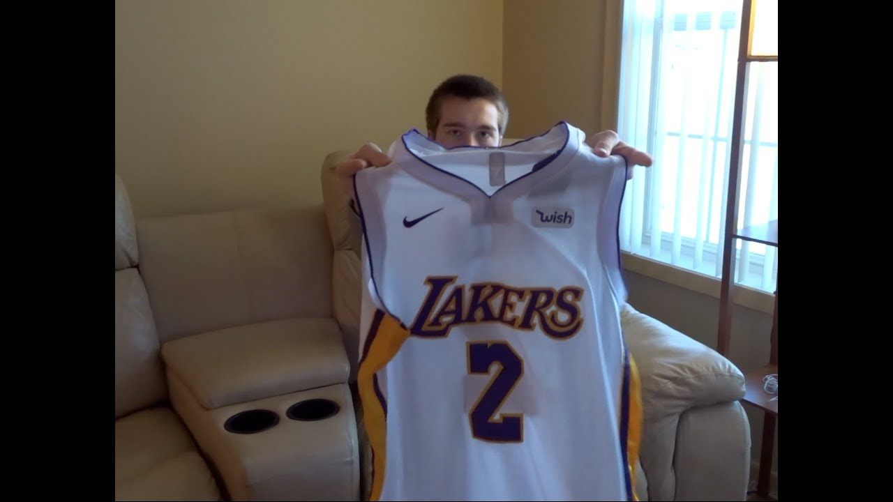 sale retailer 38b8e 7e04d Lonzo Ball Lakers Nike Jersey Unboxing! White Colorway! Unboxing from Ebay!