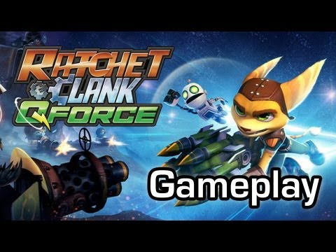 Ratchet and Clank Q-Force - Tower defense on the PS3 (Gameplay 1080p)