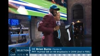 Brian Burns 2019 NFL Draft From Each Network
