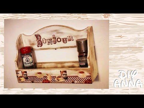 Decoupage Vintage Kitchen Shelves Diy Shabby Chic Distressed Ideas