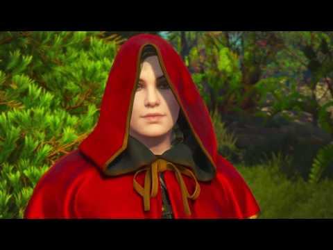 The Witcher 3 Blood and Wine - Ведьмак, большой серый волк и красная шапочка
