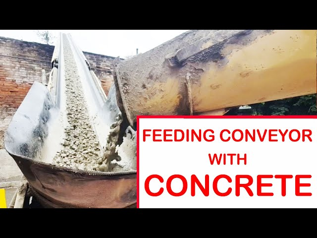 Feeding Concrete onto Conveyor Truck