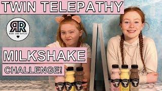 TWIN TELEPATHY MILKSHAKE CHALLENGE!! | SIS Vs SIS | RUBY AND RAYLEE