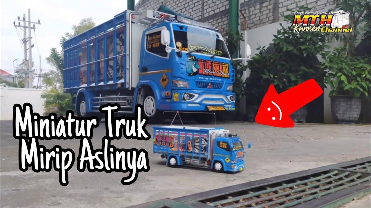 Miniatur Truk Pangeran Malam bemper jetbus.